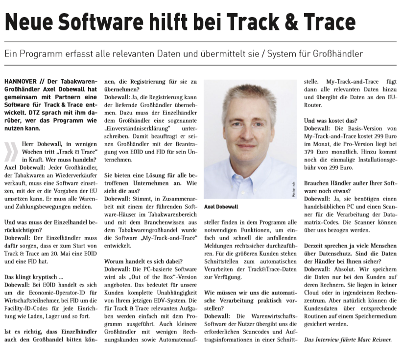 Interview Track and Trace